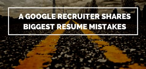 a recruiter shares resume mistakes