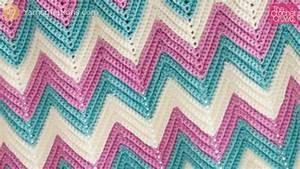 Crochet Chevron Afghan Sizes   Tutorial