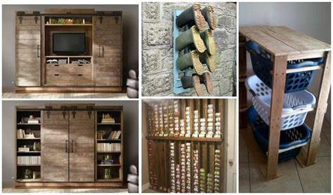 creative diy pallet storage ideas diy cozy home