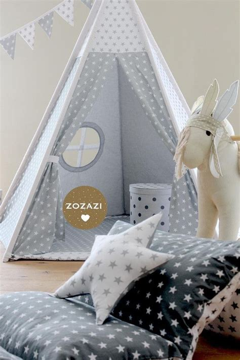 Tipi Kinderzimmer Dekorieren by Dekoration Tipi Set D148cm Wunschstoff Ein