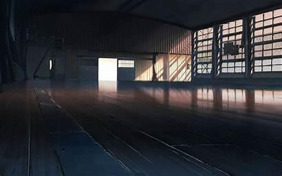 Anime Basketball Court Gyms Animation Artwork Background