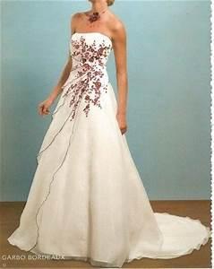 robe mariee pronuptia modele garbo ivoire et rouge With robe de mariée rouge avec alliance or blanc