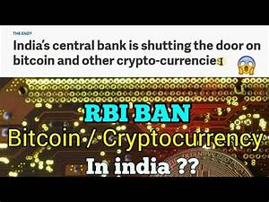 (Breaking news) RBI planing to ban cryptocurrency ...