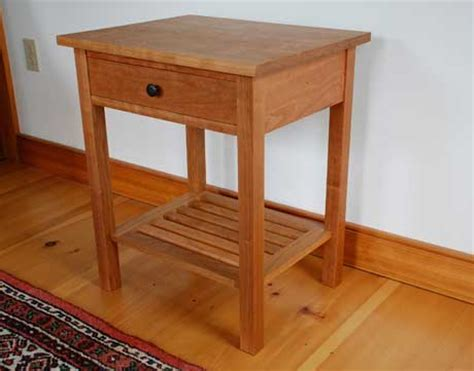 Bedroom End Tables Plans by Vermont Handmade Mission End Table In Cherry Walnut Or
