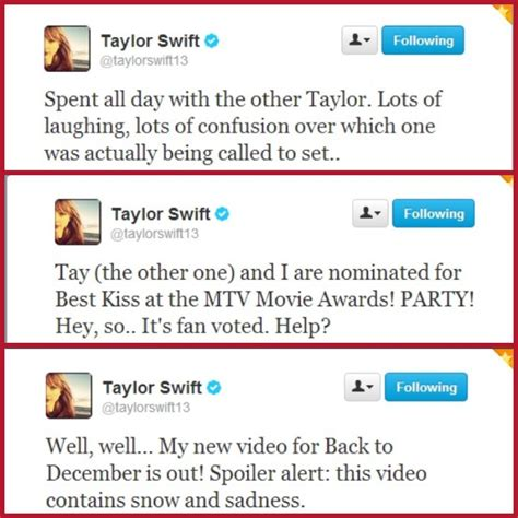 Her tweets about Taylor Lautner. Awww :)   Taylor swift ...