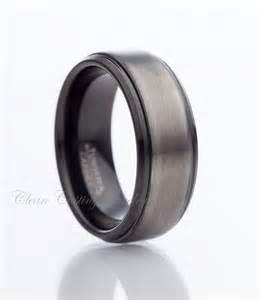 gunmetal wedding band black tungsten ring gun metal tungsten carbide wedding band anniversary ring engagement band