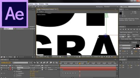 after effects tutorial kinetic typography swinging drop down y rotation hd youtube