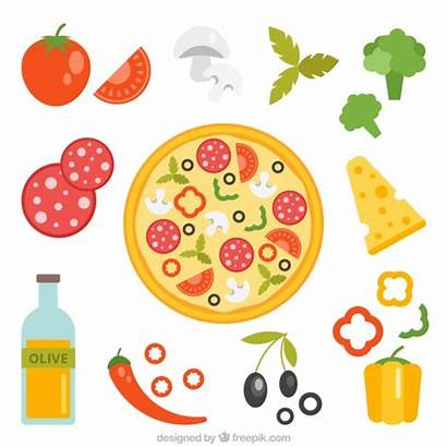 Pizza Ingredients Vector Background Pepperoni Ingredientes Clipart