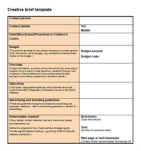 10 Creative Brief Samples Sample Templates