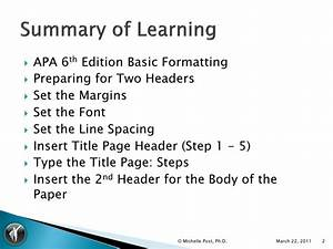 apa 6th ed ms word 2007 template tutorial v1 With apa title page template 6th edition