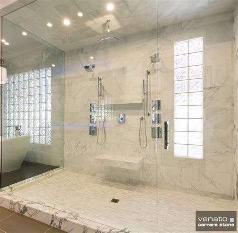 Carrara Marble Tile Bathroom by Carrara Marble Bathroom Tile Contemporary