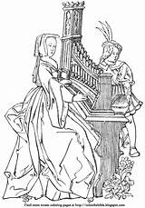 Organ Pipe Coloring Pages Lady Bible Plays Getcolorings sketch template
