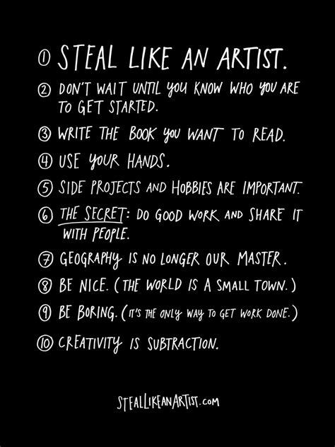 Steal Like An Artist, a book by Austin Kleon - Austin Kleon
