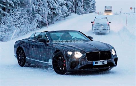 spyshots  bentley continental gtc enjoys winter