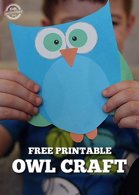printable owl craft choose pink or blue 674 | Owl Craft