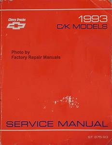 1993 Chevy C K Truck Shop Service Manual Pickup Suburban