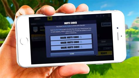invite codes mobile fortnite battle royale youtube