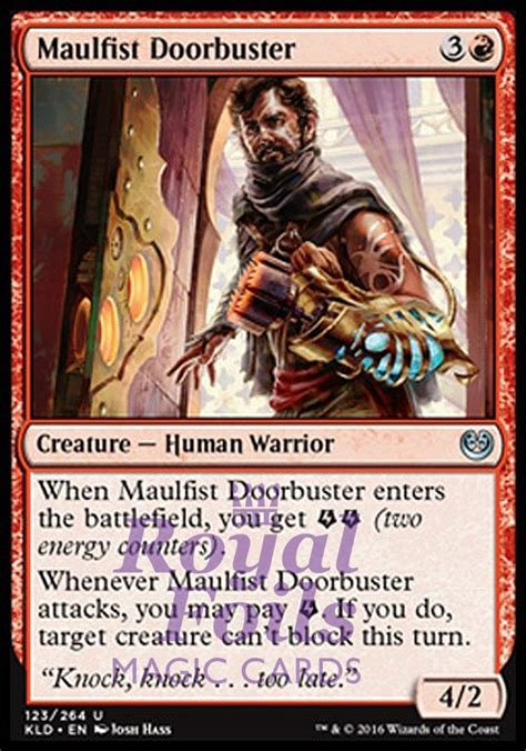 Posted by 5 years ago. 4x FOIL Maulfist Doorbuster** KLD MTG Kaladesh Uncommon MINT red (With images)   Magic cards ...