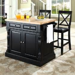 Wayfair Furniture Kitchen Sets by Crosley Oxford Kitchen Island Set With Butcher Block Top