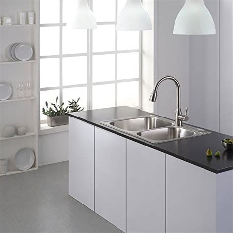 kitchen sink dubai kraus ktm32 33 inch topmount 60 40 bowl 18 2691