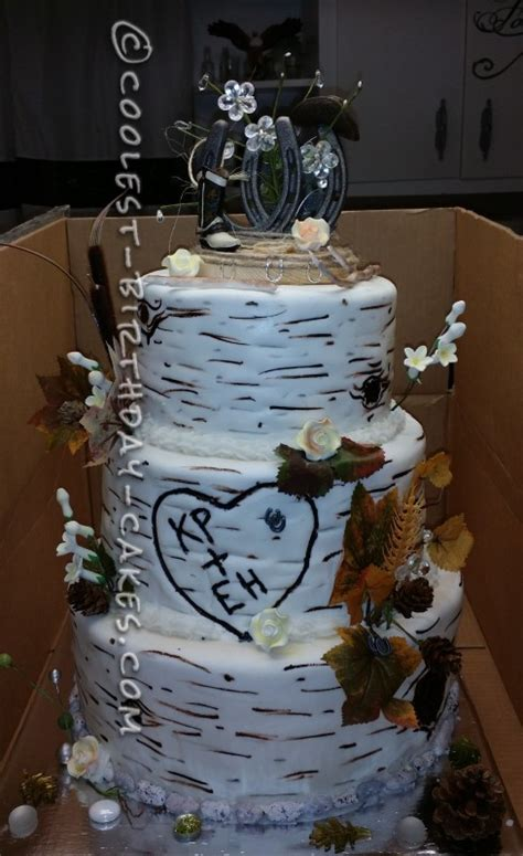 western cake toppers for wedding cakes cool aspen tree western wedding cake 1245