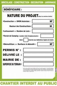 Panneau De Permis De Construire : informations et recommandations travaux divers ~ Dailycaller-alerts.com Idées de Décoration