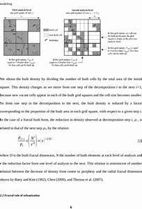 Sample Application Of The Fractal Rule Of Urbanization