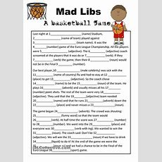 Mad Libs Basketball Game  Teaching Esl  Pinterest  Basketball Games, Mad And Gaming