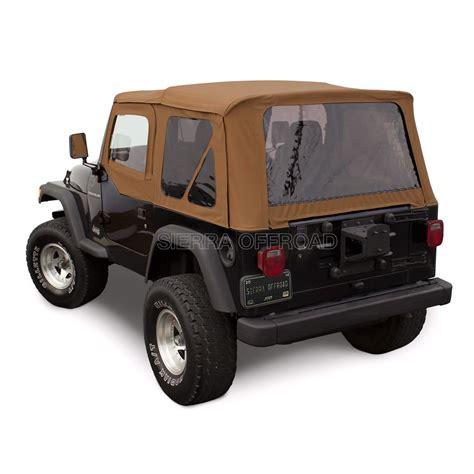 jeep wrangler top sierra offroad jeep wrangler tj soft top 97 02 in spice