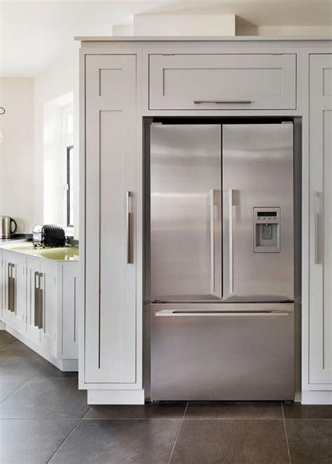 love the cabinets around the fridge   Kitchen   Pinterest