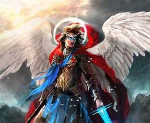 Warrior, Angel, Fantasy, Art, Artwork, Wallpapers, Hd, Desktop, And, Mobile, Backgrounds