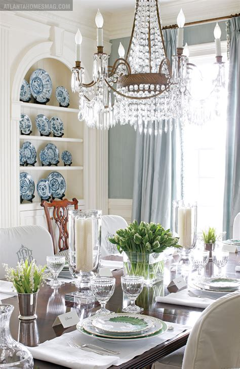 Blue And Green Dining Room  Room Design Inspirations