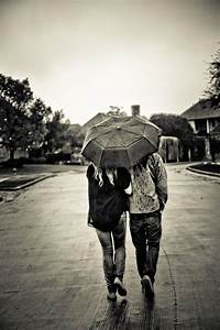 Couple with Umbrella Walking in Rain ~ People Photos on ...