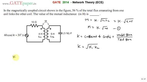 Gate Ece Find Mutual Inductance Magnetically