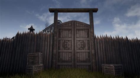 medieval series village wooden props  samuele  zanchi