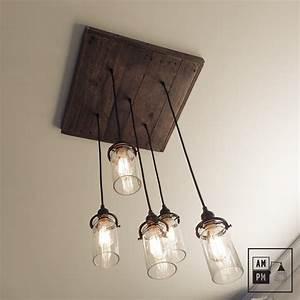Luminaire Suspension Bois : luminaires suspension rustique ~ Teatrodelosmanantiales.com Idées de Décoration