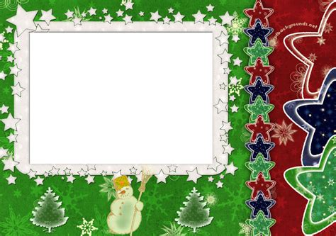 Free Elegant Border Stars Frame For Christmas Backgrounds