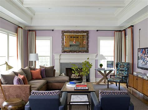 Coral Color Interior Design by Shades Of Lavender Coral And Blue In A Light Filled