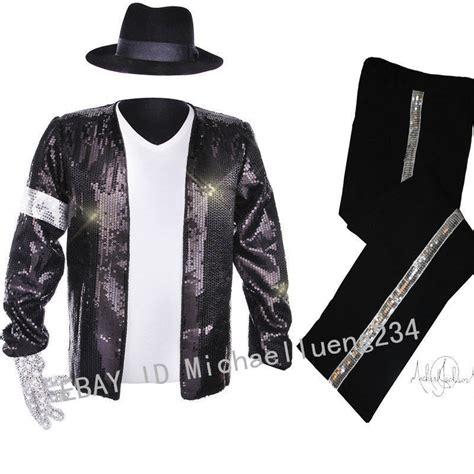 classic mj michael jackson billie jean sequin black jacket costume ebay