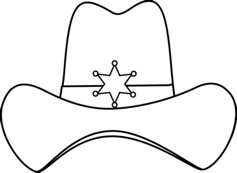 cowboy hat template black and white sheriff cowboy hat clip black and white sheriff cowboy hat image