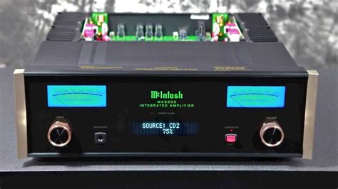 Stereo Design McIntosh MA5200 Integrated Amplifier in HD ...