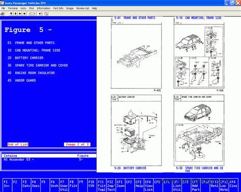 isuzu spare parts catalog american region