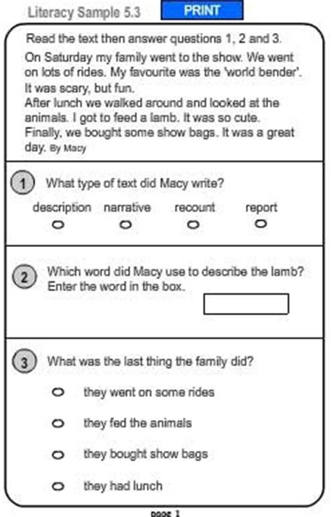 comprehension worksheets year 2 australia kidz activities
