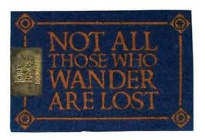 Lord Of The Rings Doormat by Lord Of The Rings Not All Those Who Wander 60 X 40cm