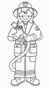 Coloring Firefighter Fire Pages Fighter Fireman Colouring Uteer Clipart sketch template