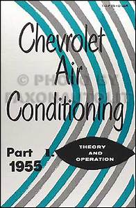 1955 Chevrolet Car Accessory Installation Manual Reprint