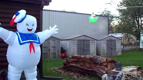 ghostbusters halloween decoration display youtube