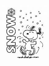 Snoopy Coloring Christmas Pages Printable Charlie Peanuts Brown Snow Winter Woodstock Sheet Activity Xmas Bestcoloringpagesforkids Kleurplaten Enjoying Sheets Gang Tree sketch template