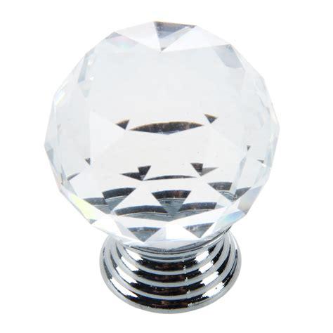 glass cabinet door knobs clear crystal glass cabinet drawer door knobs handles 30mm
