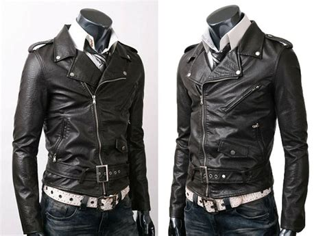 Vintage Biker Belted Rider Fine Quality Slim Fit Leather